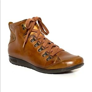 Pikolinos Lisboa Brown Leather Lace-Up Boots 39
